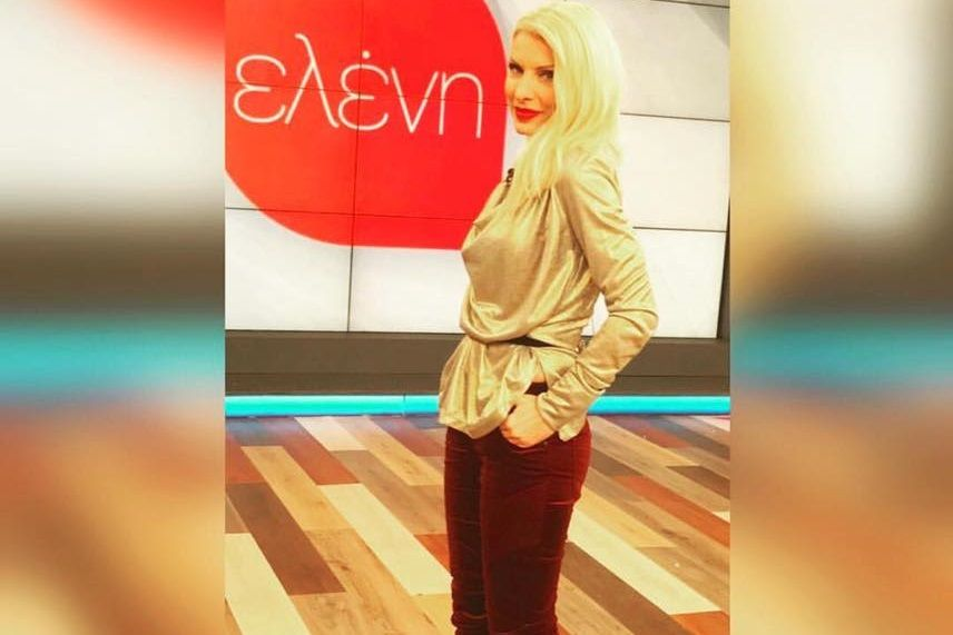 "Media Alert: Η Ελένη Μενεγάκη επέλεξε metallic μπλούζα ""MY T wearables"" στη σημερινή εκπομπή της «Ελένη» από τα καταστήματα Wyou!"