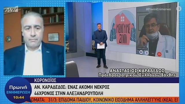 Ένας ακόμη νεκρός στην Ελλάδα από τον κορονοϊό-46χρονος στην Αλεξανδρούπολη
