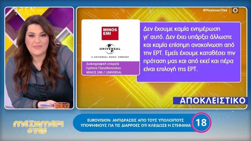 Eurovision: Αντιδράσεις από τους υποψήφιους για τις διαρροές ότι θα μας εκπροσωπήσει η Στεφανία Λυμπερακάκη
