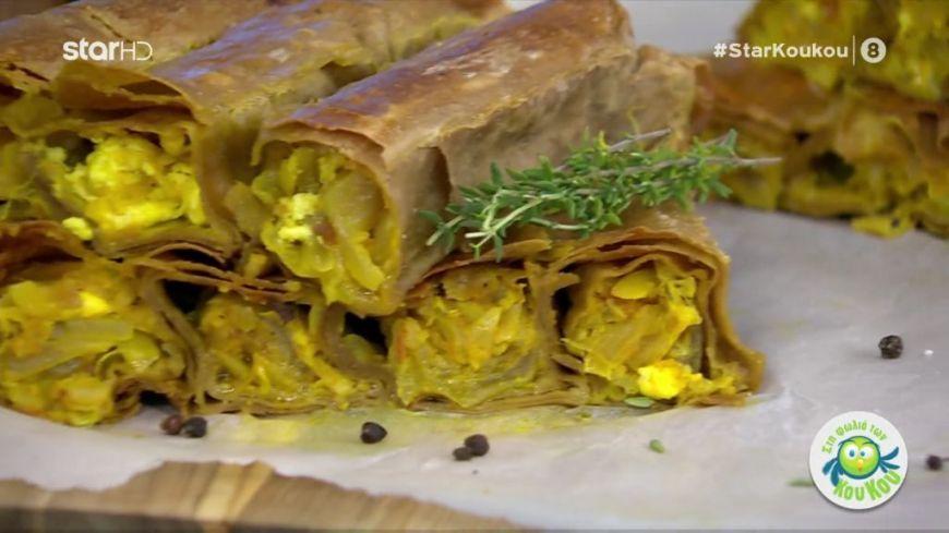 Κρεμμυδόπιτα με μπέικον από τον Λάμπρο Βακιάρο