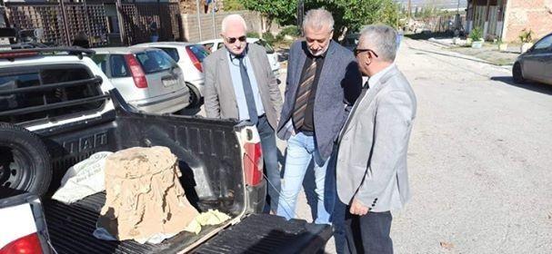 Ο Γιώργος Τσούκαλης βρήκε αρχαία στη Θήβα
