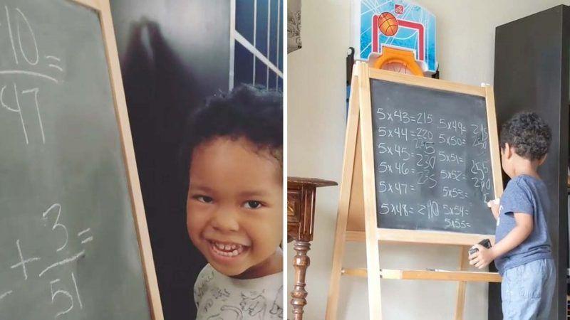Πανέξυπνο 3χρονο αγοράκι λύνει μαθηματικές πράξεις που δυσκολεύουν ακόμη και μεγάλους!