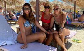Τσιμτσιλή-Κουτσελίνη-Μεσσαροπούλου: Έκλεψαν τα βλέμματα σε παραλία της Πάρου!