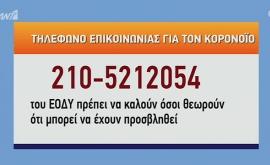Τηλέφωνο επικοινωνίας για τον Κορονοϊό