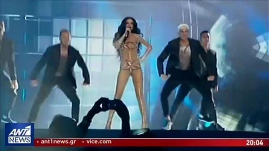 «Καυτή» η Ελένη Φουρέιρα στην πρώτη πρόβα της για τον τελικό της Eurovision