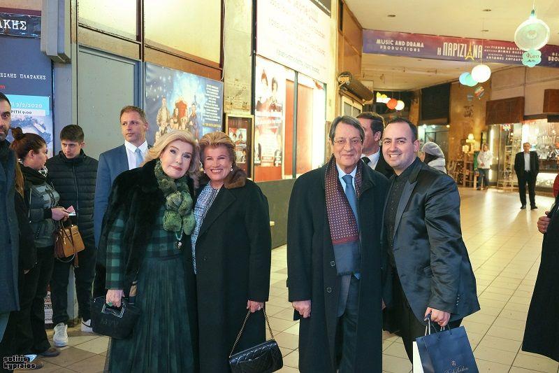 """Ο Πρόεδρος της Κυπριακής Δημοκρατίας κ.Νίκος Αναστασιάδης   και η κ. Μαριάννα Β.  Βραδινογιάννη στην """"Παριζιάνα"""" (Photos)"""