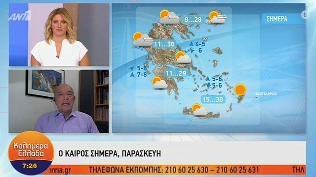 Η πρόγνωση του καιρού από τον Τάσο Αρνιακό