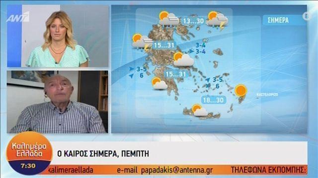 H πρόγνωση του καιρού από τον Τάσο Αρνιακό