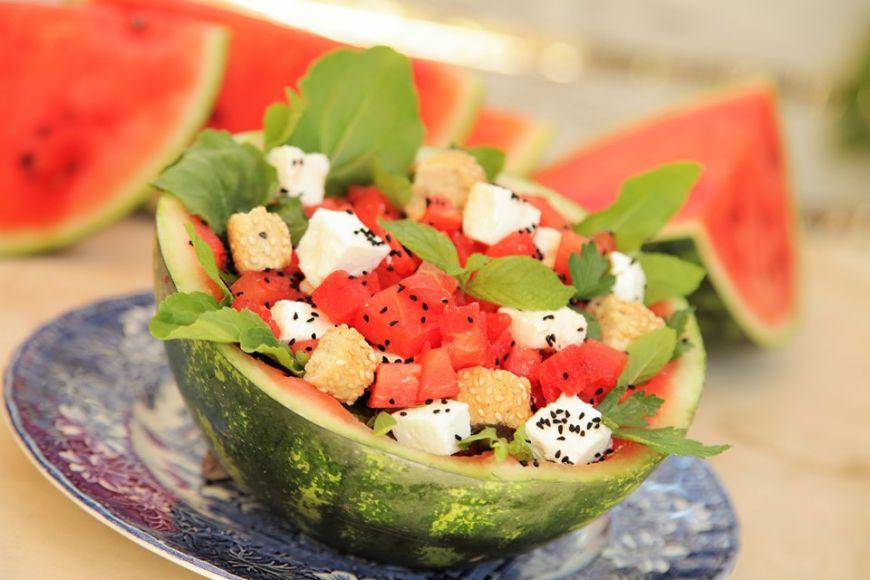 Σαλάτα καρπούζι-φέτα από την Εύα Παρακεντάκη