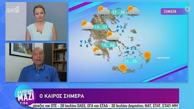 Tάσος Αρνιακός: Η τελευταία εβδομάδα του Ιουλίου θα είναι καυτή!