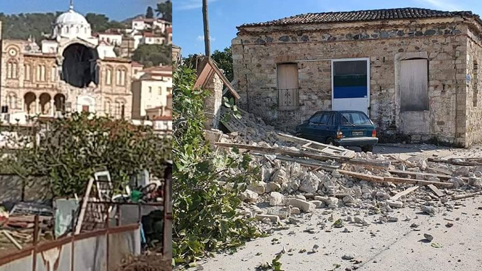 Σεισμός στη Σάμο: Έπεσε εκκλησία στο Καρλόβασι – Δείτε βίντεο