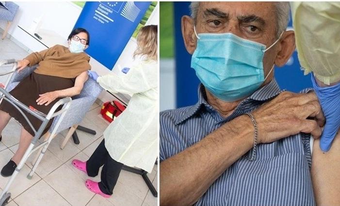 """Κύπρος: Άρχισαν οι εμβολιασμοί με δύο ηλικιωμένους – """"Για να έρθουν τα εγγόνια μου να με δουν"""""""