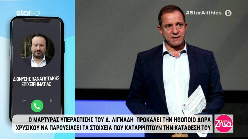 Ο Διονύσης Παναγιωτάκης για την υπόθεση Λιγνάδη:  Τι του ζητήθηκε να αποδείξει στην ανακρίτρια, οι φωτογραφίες που του έδειξαν,  οι διακοπές στην Ιθάκη και η συνομιλία του με την Δώρα Χρυσικού