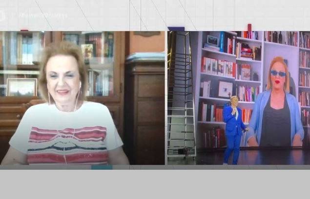 ΅Η Mατίνα Παγώνη απόλαυσε την πρεμιέρα του Τάκη Ζαχαράτου: Δεν με έφερε καθόλου σε δύσκολη θέση
