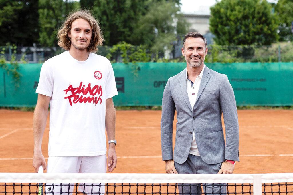 Ο Περικλής Ηλίας και ο Στέφανος Τσιτσιπάς στον «ΔΡΟΜΟ ΓΙΑ ΤΟ ΤΟΚΙΟ-Team Hellas»