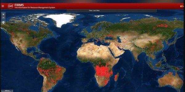 Φωτιές: Ο πλανήτης στο «κόκκινο» – Η απεικόνιση της NASA με τις πυρκαγιές σε όλο τον κόσμο