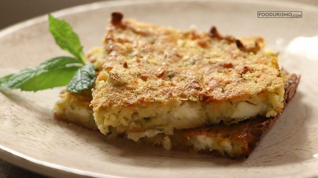 Μπατζίνα, εύκολη πίτα με κολοκυθάκια